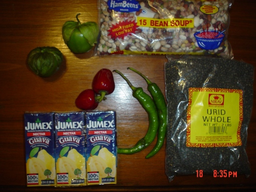 Tomatillos, cheery peppers, long hot peppers and other produce from Buford Highway.