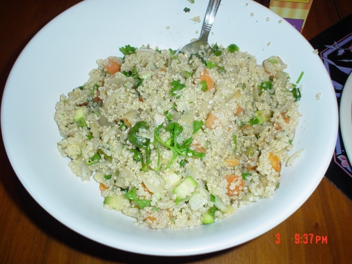 The pilaf is tasty and simple to make.