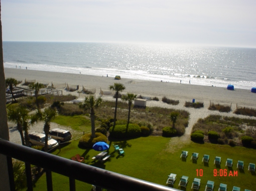 A balcony view of Myrtle Beach.