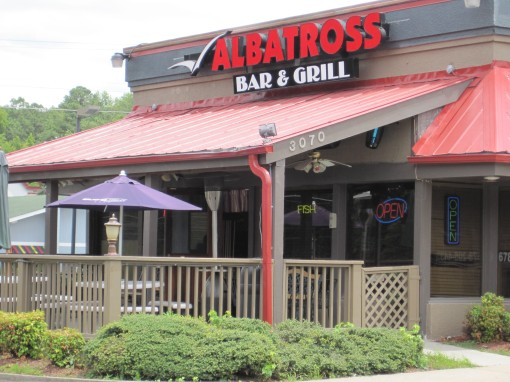 The front of Albatross Bar and Grill, Snellville GA
