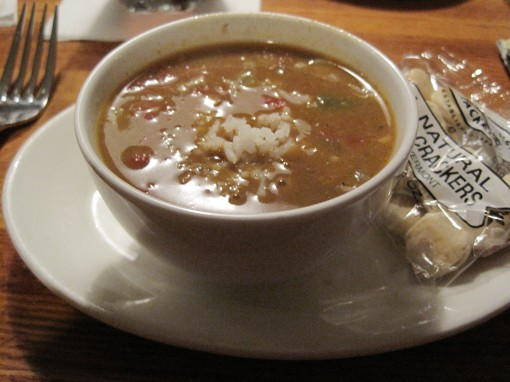 A good gumbo, flavorful and nicely spiced.