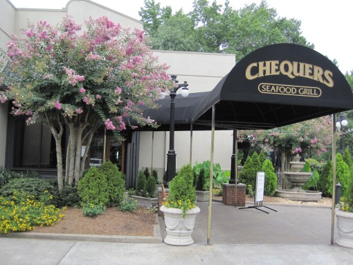 Entrance to Chequers Seafood Grill.
