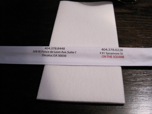 The chopsticks wrapper shows the origin of this Snellville restaurant.