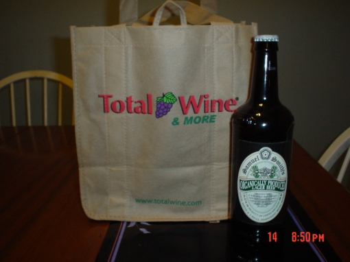 Total Wine's canvas bag has six slots, to keep nice beers and wine.