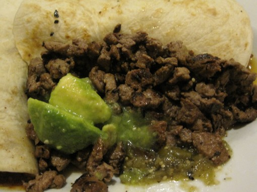 cesina taco, with marinated steak as the filling.