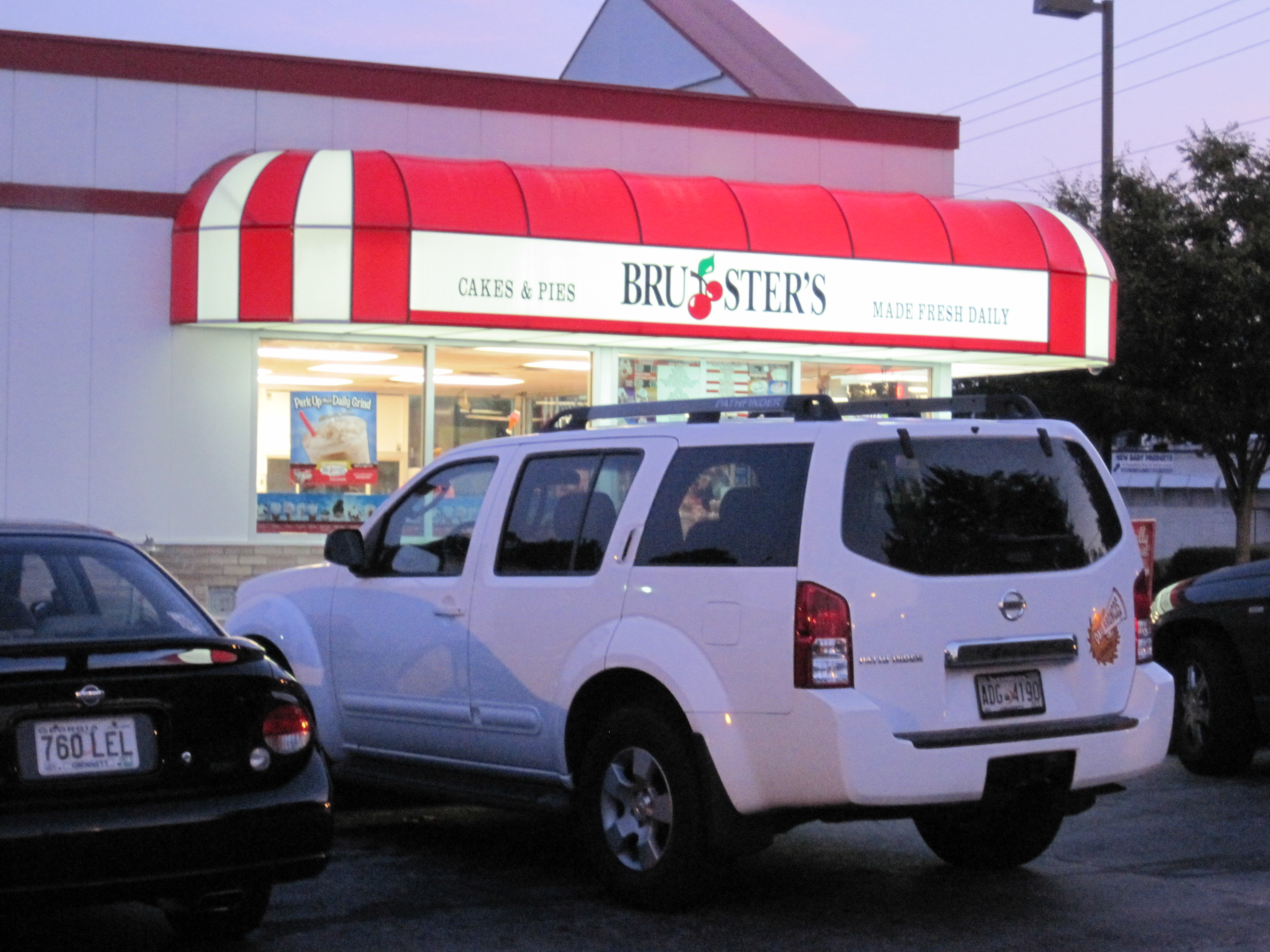 Brusters offers an excellent premium ice cream, with a lot of flavor and a