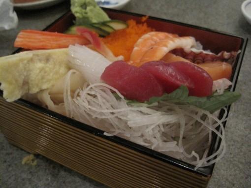 chiraishi sushi from Haru Ichiban.