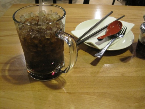 Coke and silverware at Ming's