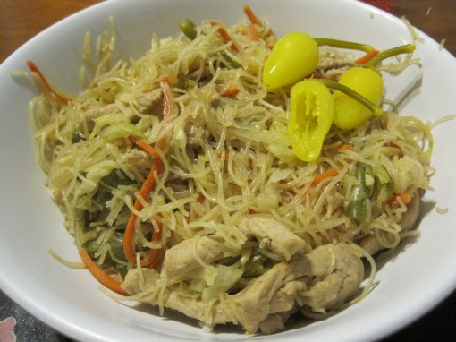 home made pancit