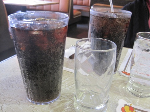 Sodas at House of Pies are huge.