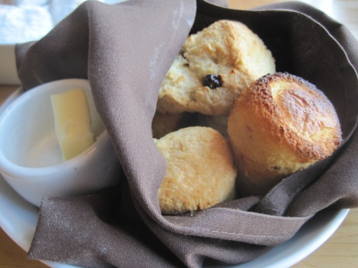Bread Basket, with a scoen and some cornbread peeking out.