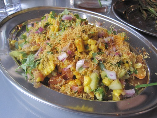 Corn bhel. Also really tasty.