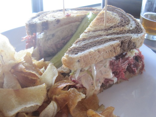 One of the biggest reubens I've ever seen.