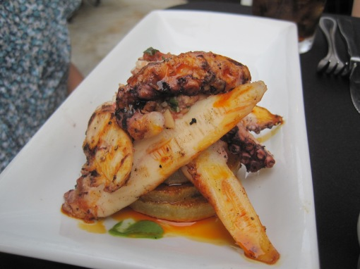 pulpo a la parilla, a good tasting octopus small dish.