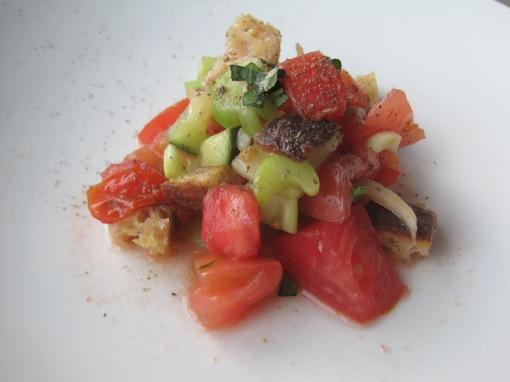Half a tomato salad.
