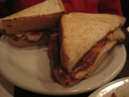 Smoked turkey sandwich.