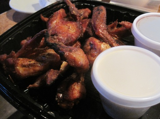 "The smoked wings are the ""must order"" here, richly smoked and delicious."
